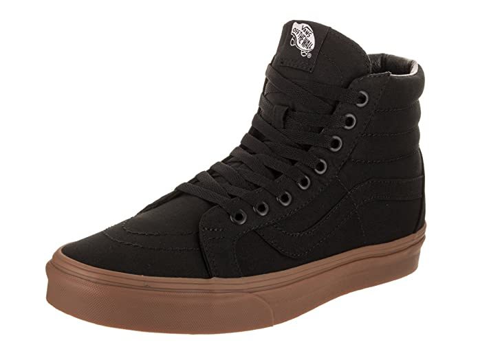Vans Sk8-Hi High Top Sneaker Damen Herren Kinder Unisex Schwarz (Black/Light Gum)