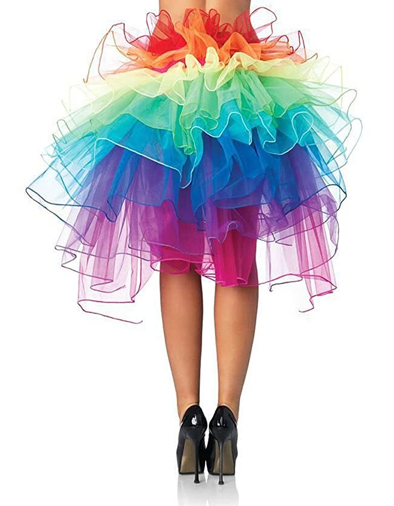 Imixshop Women's 3 Layers Ballet Dress-Up Fairy Tutu Skirt Orange)