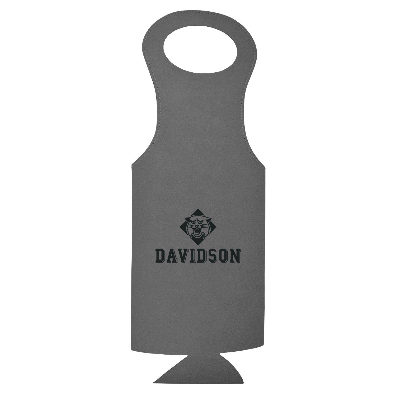Davidson College-Velour Wine Tote-Grey