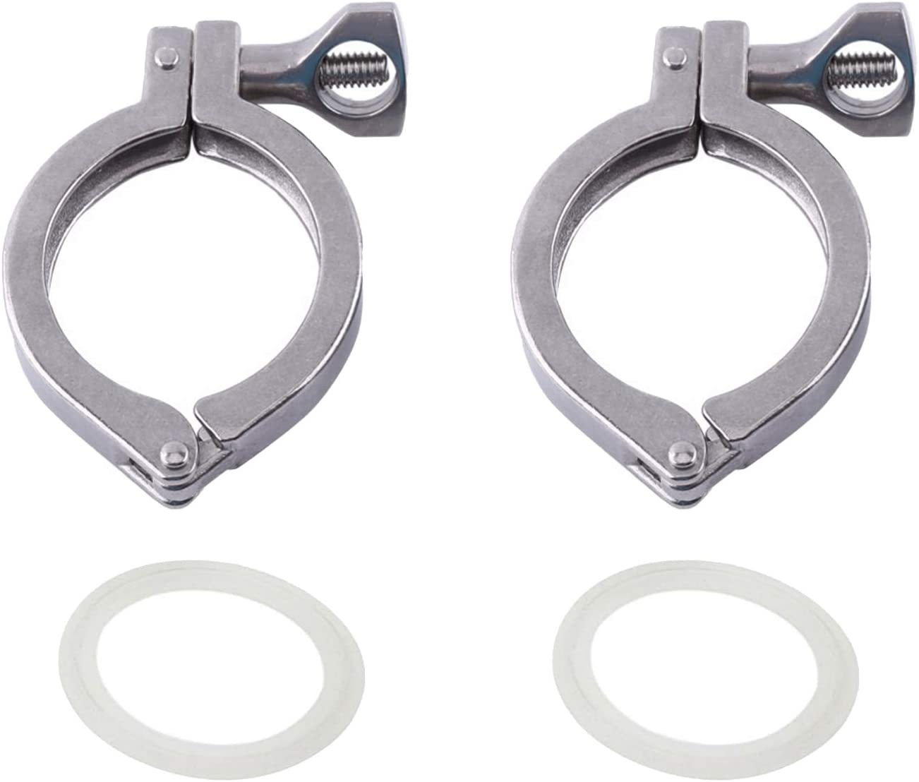 """1.5"""" Tri Clamp Clover Stainless Steel 304 Single Pin Heavy Duty with Wing Nut for Ferrule TC 1.5''-Food Grade"""