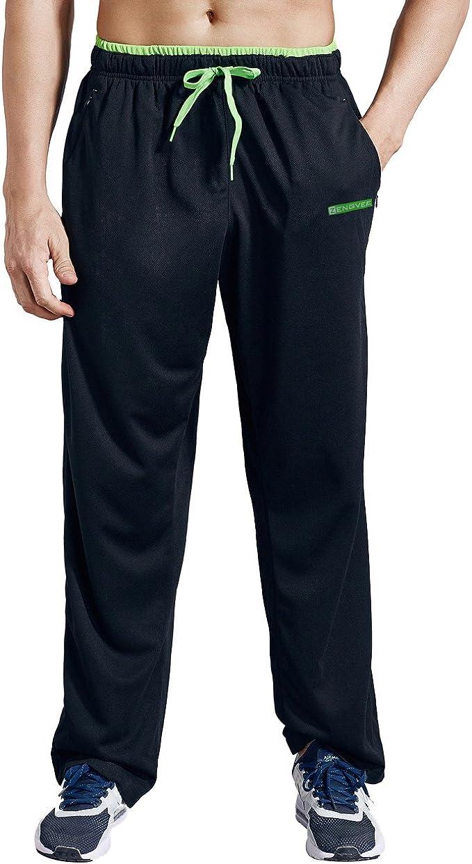 ZENGVEE Pantalon Chandals Hombre con Bolsillos Laterales