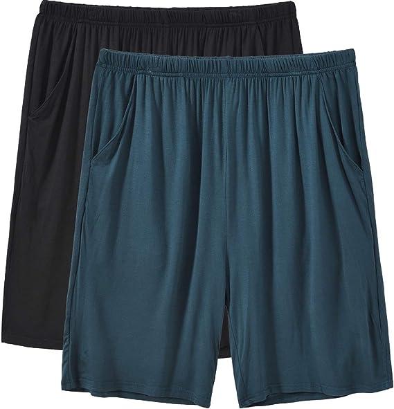 dahuo Mens Summer Sleep Shorts Cotton Pajama Shorts Knit Sleepwear Lounge Shorts