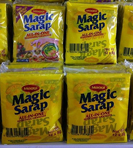 5 PACKS Maggi Magic Sarap Philippines All-in-One Seasoning Granules (12PCS/PACK) by Nestle, Inc. (Image #2)