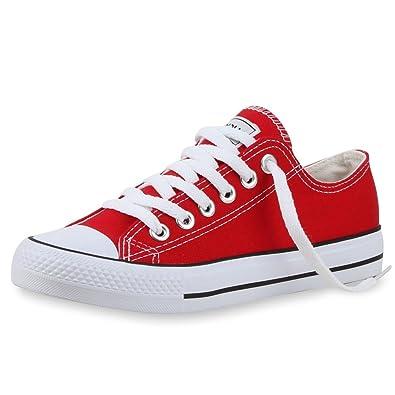 Japado - Zapatillas Mujer, Rot Bianco, 43 EU