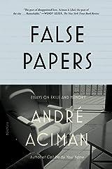 False Papers Paperback