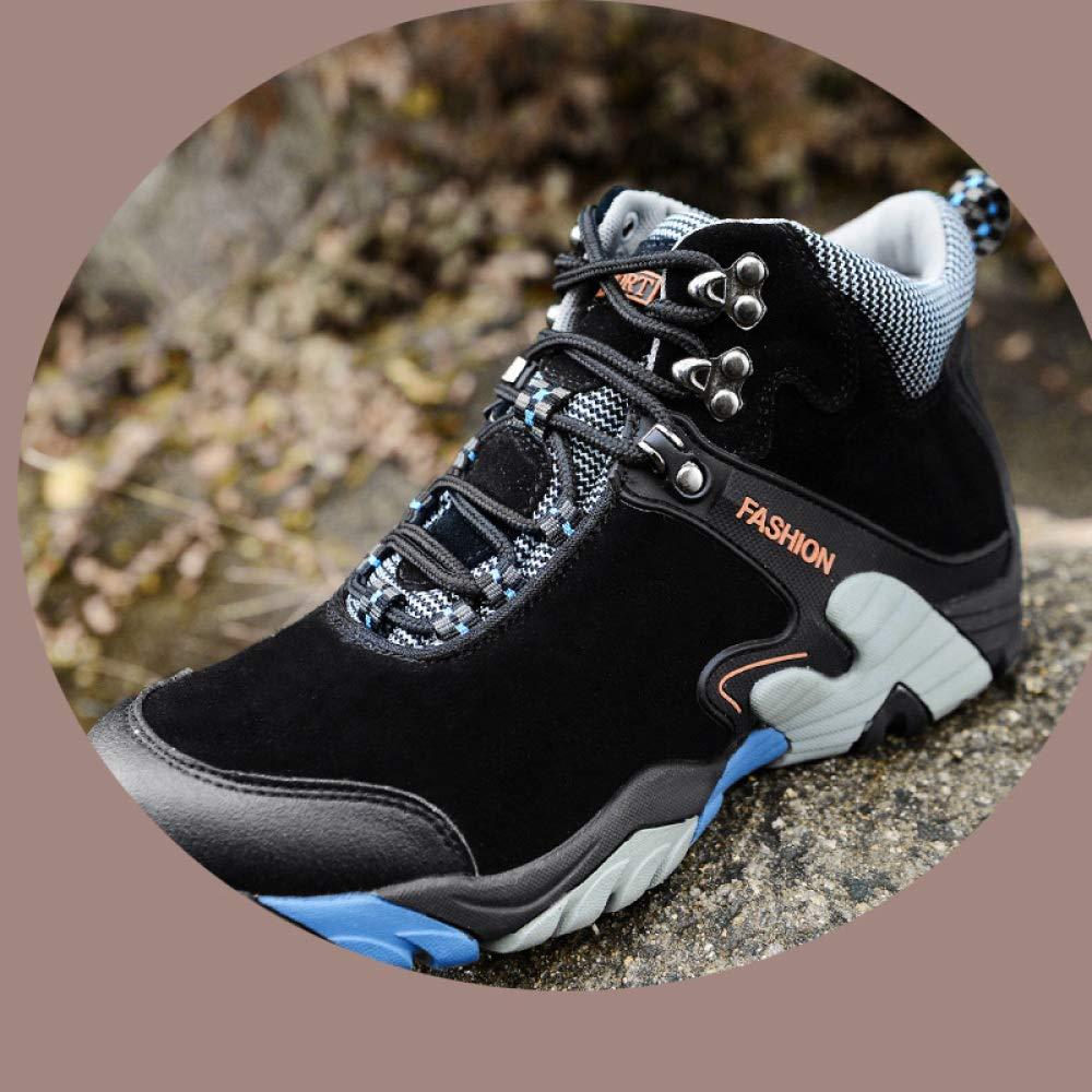 Black 40shoes Winter Men's Snow, Plus Velvet Outdoor Hiking, Trend Martin Boots