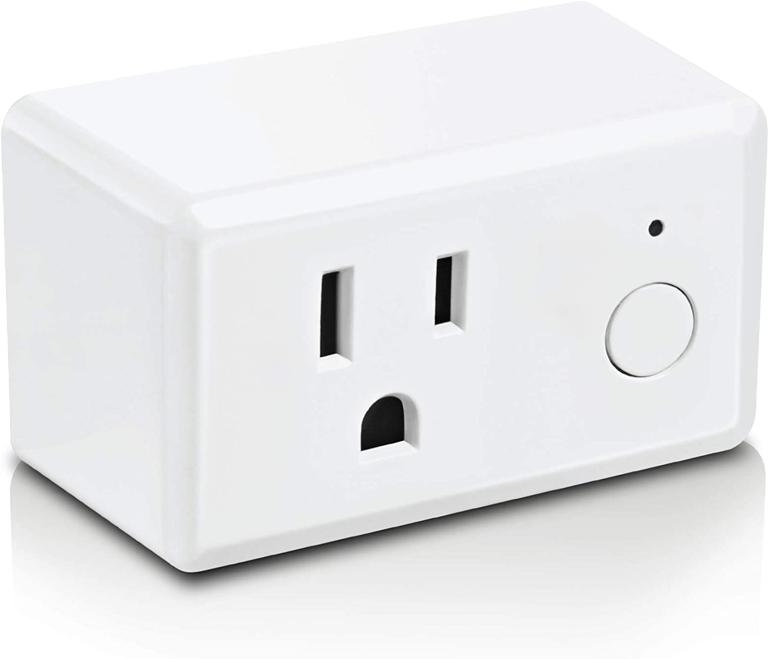 Feit Electric Work App No hub Required Smart Plug WiFi Outlet White Alexa and Google