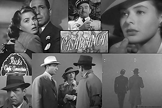 Casablanca Humphrey Bogart Ingrid Bergman Art print