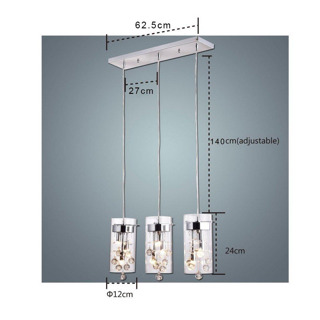 CLAXY Ecopower Lighting Glass & Crystal Pendant Lighting Modern ...