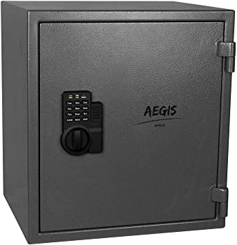 AEGIS 1.74 cu.ft Fireproof Safe Electronic Security Safe Box-Safes and Lock Boxes, Money Box, for Home Hotel Office Cash Jewelry,Battery and Keys Included