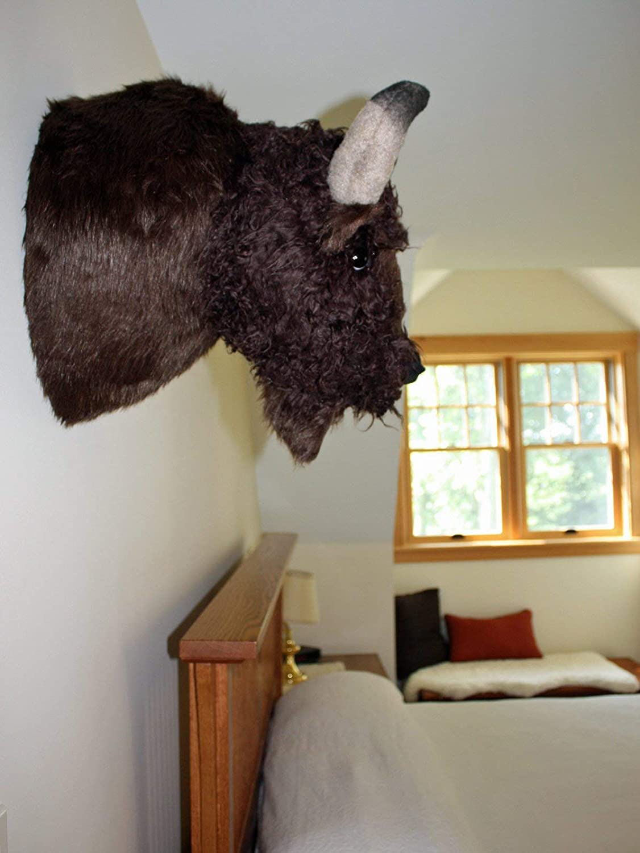 Plush Buffalo HeadTatanka Large Shoulder Mount