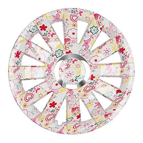 (Größe wählbar!) 16 Zoll Radkappen ONYX (Flowers) passend für fast alle Fahrzeugtypen (universell) - vom Radkappen König