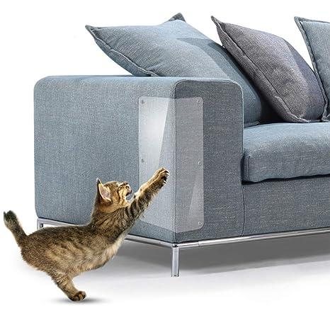 Authda - Protectores de Muebles para Gatos Reutilizables, Flexibles, Protectores para sofá y Puertas de Madera, Protectores de arañazos para Gatos, ...