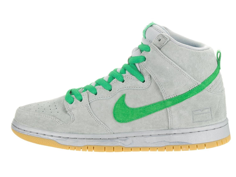 innovative design 3ce09 8ef96 Amazon.com   Nike Men s Dunk High Premium SB Metallic Silver Hyper Verde Gu  Skate Shoe 9 Men US   Fashion Sneakers