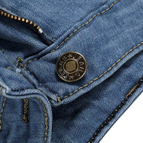 Vita Slim jeans Blu Buco Lqqstore Skinny Design donne Matita Strappato Alta Pantaloni Stretch Denim Moda Sexy Jeans Donna PqRxnwd6RT