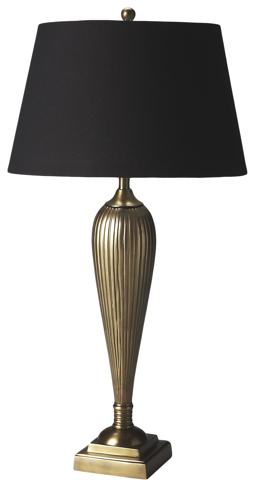 Iron Table Lamp with Linen Shade