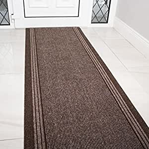 Amazon Com Brown Rubber Backed Very Long Hallway Hall