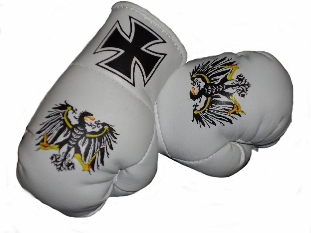 Sportfanshop24 Mini Boxhandschuhe Eisernes Kreuz Preussen Adler 1 Paar 2 Stück Miniboxhandschuhe Z B Für Auto Innenspiegel Auto