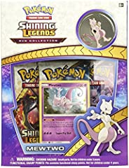 A dangerous experiment: mewtwo!from its earliest days, The legendary Pokémon Mewtwo has always been a formidable foe. With this Pokémon TCG: shining Legends pin collection, you get Mewtwo both as a never-before-seen, playable foil promo card,...