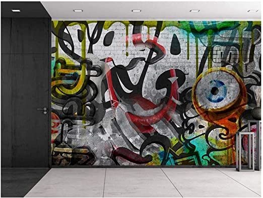 100x144 inches Large Wall Mural Colorful Graffiti wall26 Home Decor
