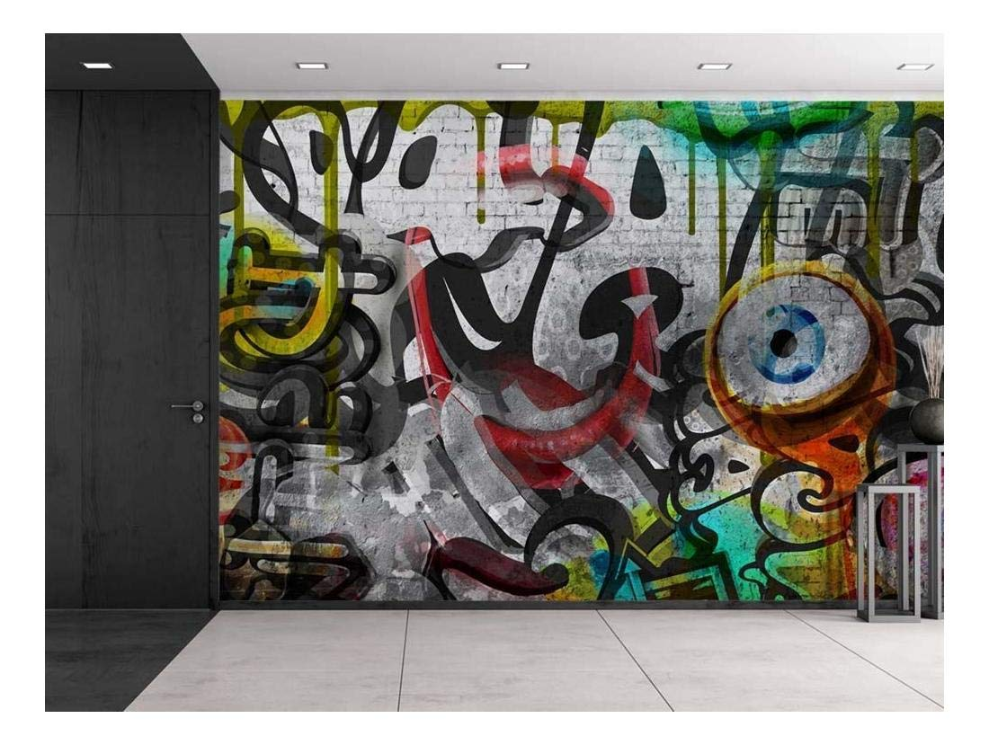 wall26 - Colorful Graffiti - Large Wall Mural, Removable Peel and Stick Wallpaper, Home Decor - 100x144 inches by wall26 (Image #1)