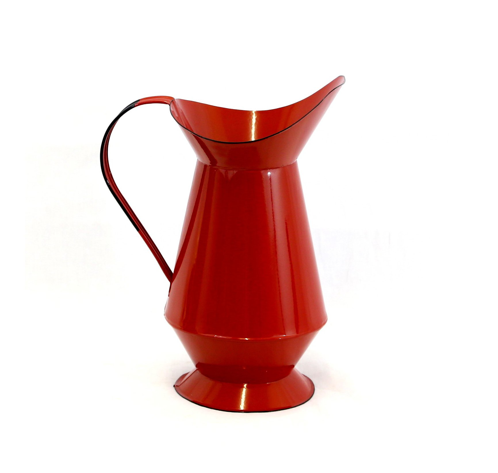 Red Enamel Water Pitcher
