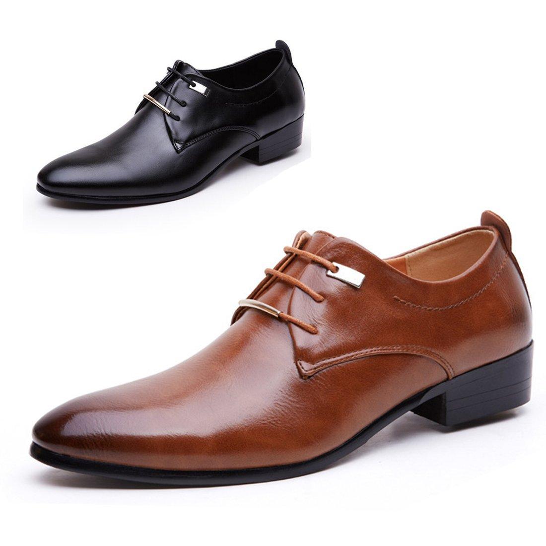 13d3dcf14c425 Amazon.com: Gaorui Men Pointed Toe Business Dress Formal Leather ...