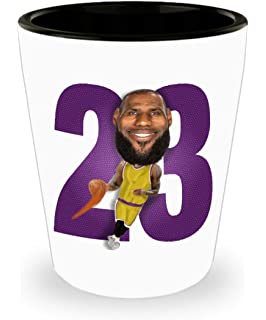 2a135d3b3a3 Lebron Lakers Shot Glass Gift for LA Basketball James Sports Fan Birthday  Christmas 1.5oz Caricature
