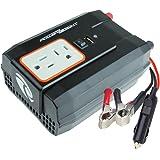 Power Bright XR400-12 Power Inverter 400 Watt 12 Volt DC To 110 Volt AC with USB Charging Port