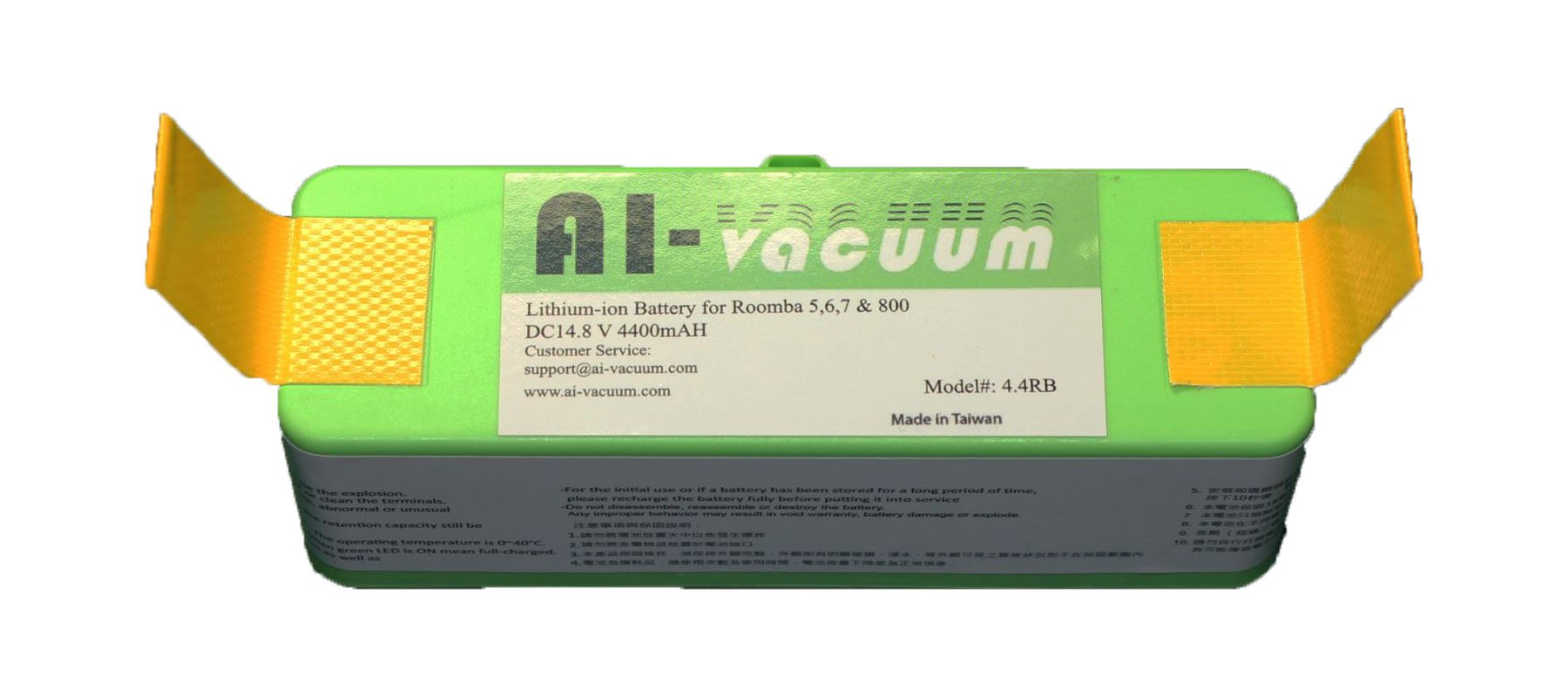 AI-Vacuum Lithium-ion 4400 mAH Battery for Roomba 500, 600,700, 800 Series