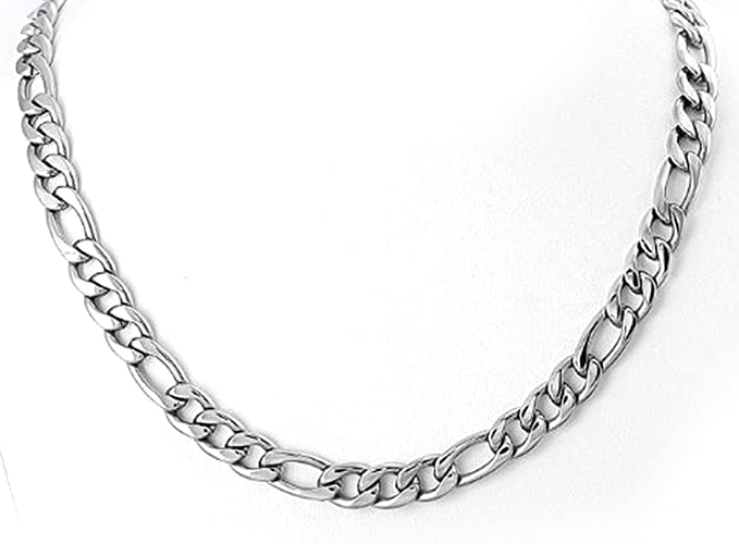 Mens Necklace Square Franco Stainless Steel Thick Chain 316 L Silver or Gold