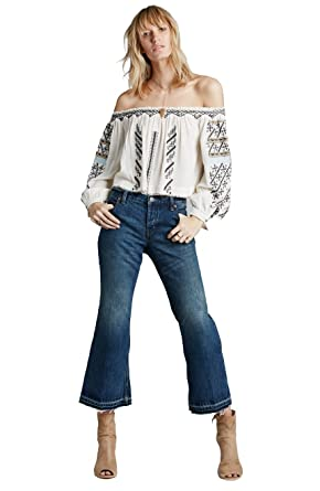 06ec293e7e8 Free People Kick Flare Jean Low Rise 3 4 Length at Amazon Women s Jeans  store