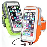 Iphone 7 plus Armband, RISEPRO Sports Armbag Touchscreen Pouch Multifunctional Pockets Outdoor 2 pack for iphone7, 7 plus, 6, 6S, 6plus, 5, 5s, 5c,Galaxy Card Holder Jogging Running (Wireless Phone Accessory)
