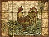 Ceramic Tile Mural - Tuscan Rooster- by Paul Brent - Kitchen backsplash / Bathroom shower