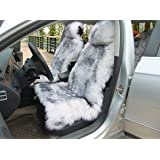 OKAYDA Car Seat Cover Genuine Australia Sheepskin Luxury Long Wool Front Seat Cover Fits Car