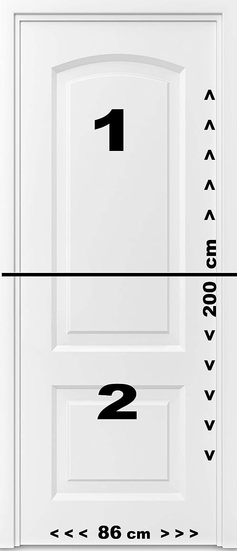 murimage Carta Parati Porta Semplice 3D 86 x 200 cm Poster Wallpaper Bianco Portone Anta Ingresso Entrata Uscio Cancello Fotomurali Include Colla