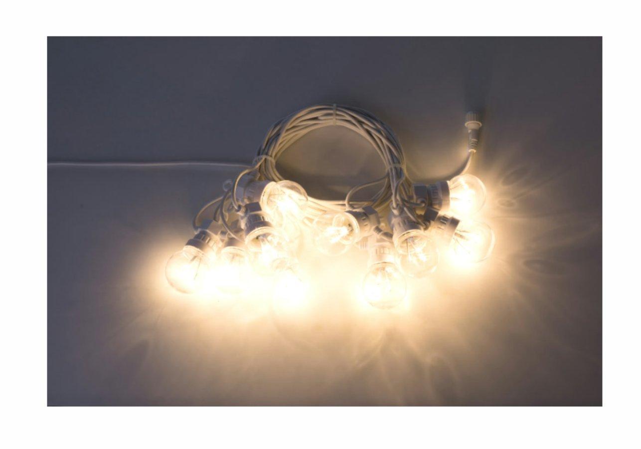 Cordoniera Bianca Prolungabile con 10 lampade 3000°K Lunga