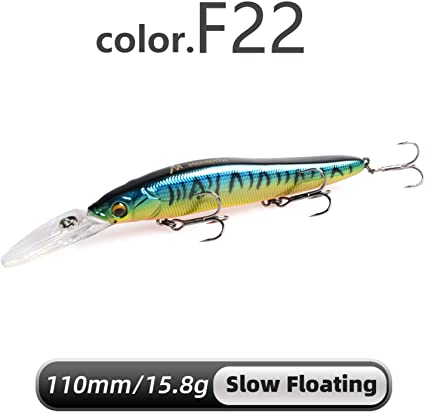 110mm 14g Minnow Floating Fishing Wobbler Lure Bait Hard Lures Crankbait Artific