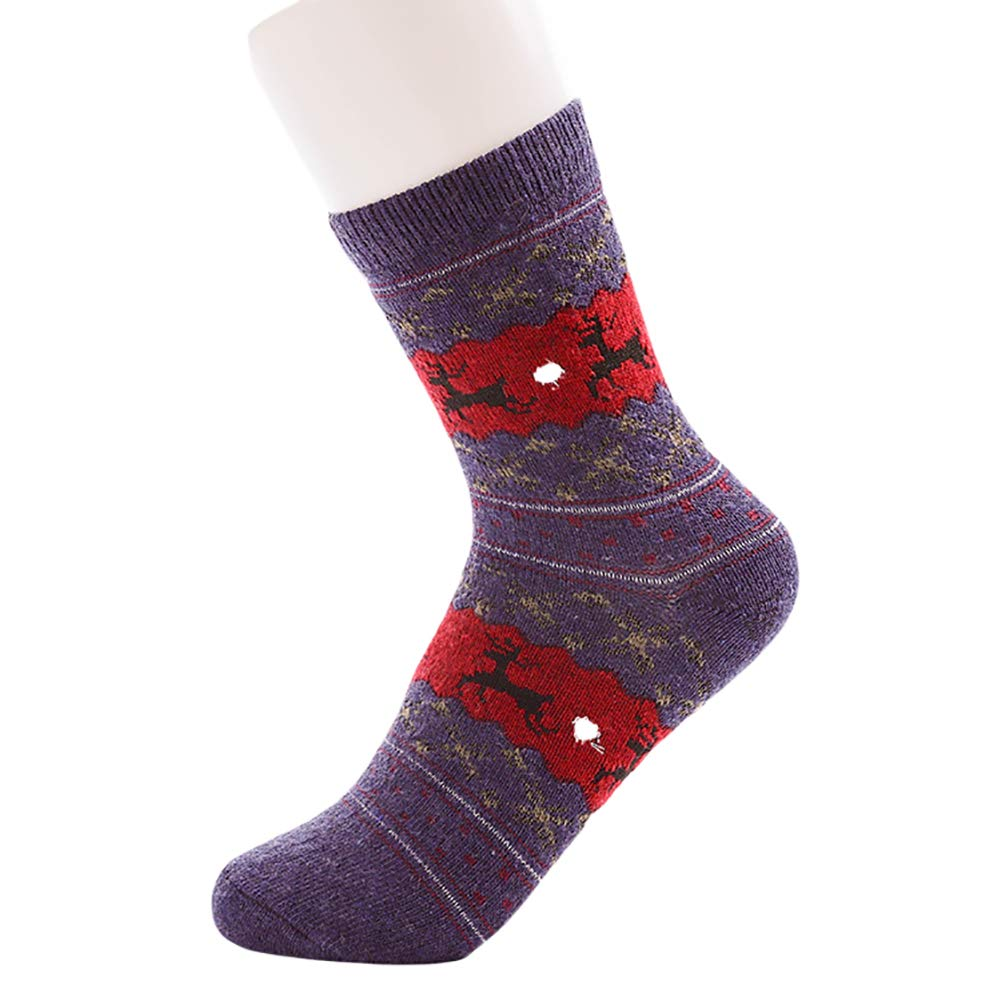good01 Women Girl Christmas Snowflake Deer Warm Winter Soft Socks Xmas Gift