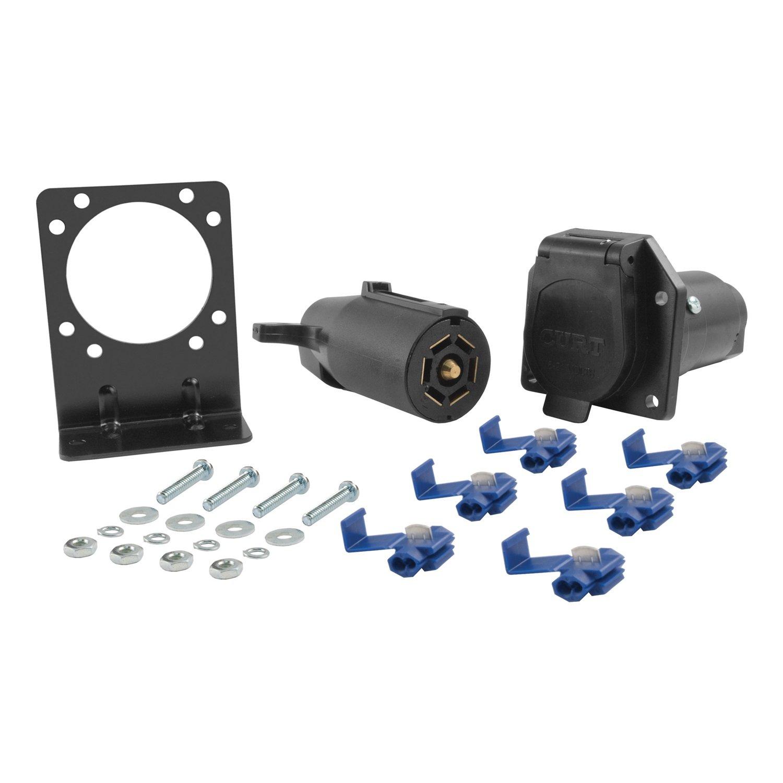 Curt Manufacturing CURT 58152 7-Way RV Blade Connector Plug & Socket Kit