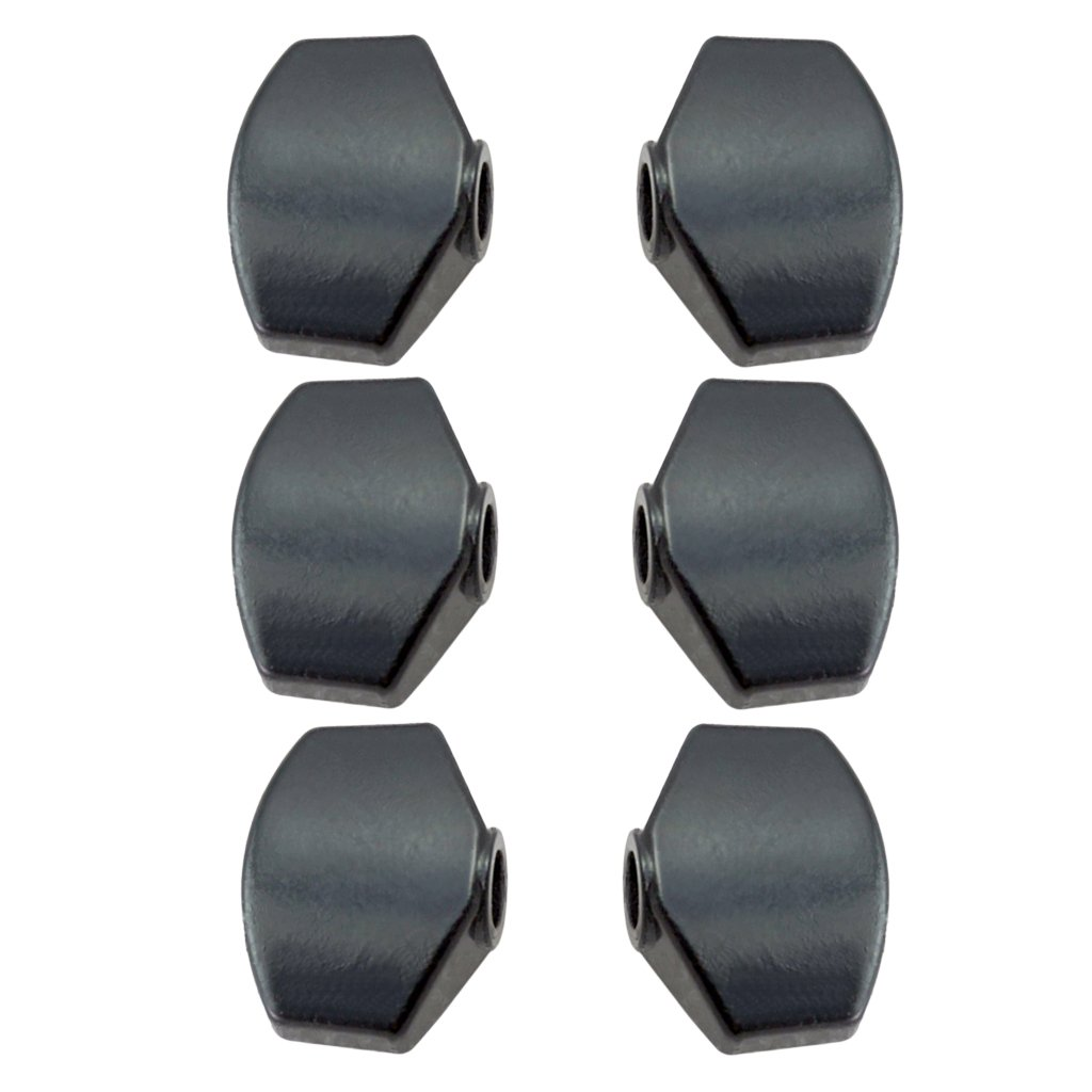 Homyl 6 Pcs Acoustic Guitar Tuning Pegs Cap Tuners Machine Head Replacement Button Knobs Black as described