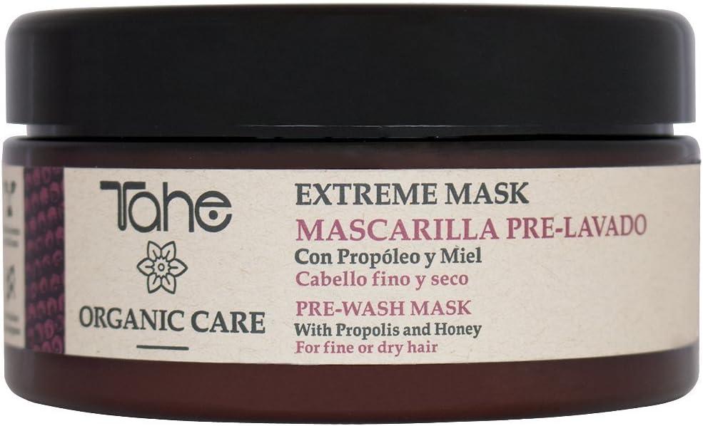 Tahe Organic Care Mascarilla Capilar Extreme Pre-lavado/Mascarilla para Cabello Fino y Seco con Propóleo y Miel, 300 ml