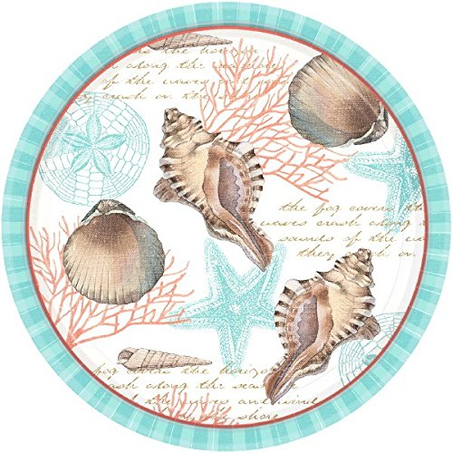 Eco Serveware - amscan by The Sea ECO Round Plates | 8 Ct. | 10.5