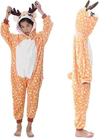 UMIPUBO Pijama Animal Niña Unisexo Cosplay Traje Disfraz Niña Animal Pijamas Onesies Ropa de Dormir Halloween y Navidad