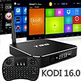 WISEWO Android 5.1 T95 Quad Core Amlogic S905 KODI XBMC 1080P Set Top TV Box Bundle with Keyboard and Accessories