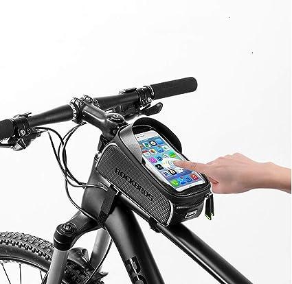 Amazon.com: LANKELEISI - Bolsa para bicicleta, marco frontal ...