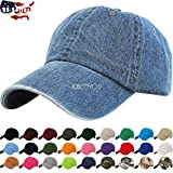 Solid Plain Washed Cotton Polo Style Baseball Ball Cap Hat 100% Cotton
