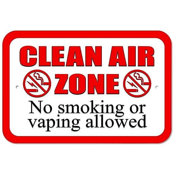 Plástico Aire Limpio Zone señal de prohibido fumar o verytea ...