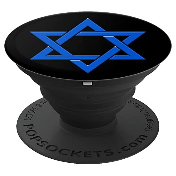 Amazon Star Shield Magen David Blue Jewish Symbol Popsockets