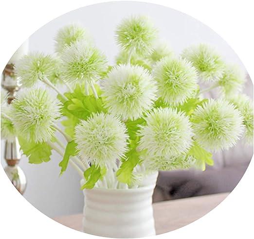 10Pcs//pack Artificial Flower Dandelion Grass Ball Flowers Home Garden Decoration